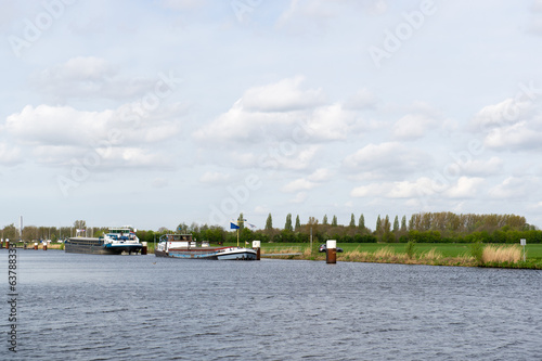 River with boats in Holland