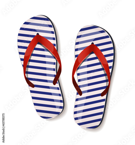 Pair of flip-flops. Vector illustration.
