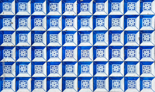 canvas print picture Azulejos, traditional Portuguese tiles