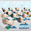 Fitness People - Vector Illustration, Graphic Design