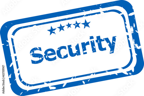 security on rubber stamp over a white background