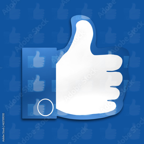 like, thumbs, fan fanpage,