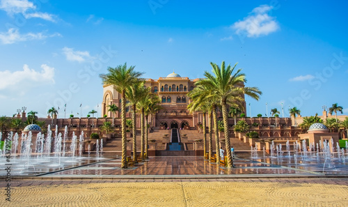 Emirates Palace in Abu Dhab