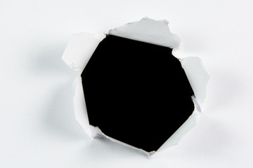 Breakthrough torn big black hole in white paper