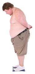 Fat man standing