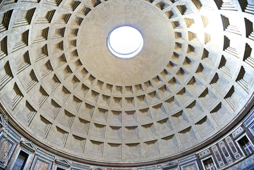 Under the dome of Pantheon, Rome, Italy