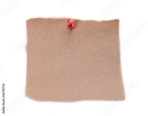 Empty paper sheet isolated on white