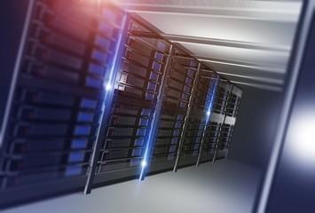 Hosting Datacenter Concept