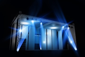 Illuminated Stage Isolated