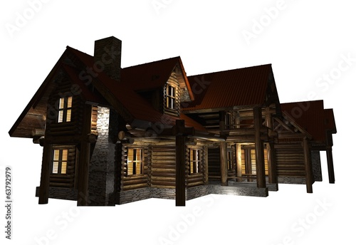 Log Home Isolated Graphic