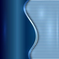Vector abstract blue background with curve and stripes