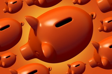 Group of Piggy Banks