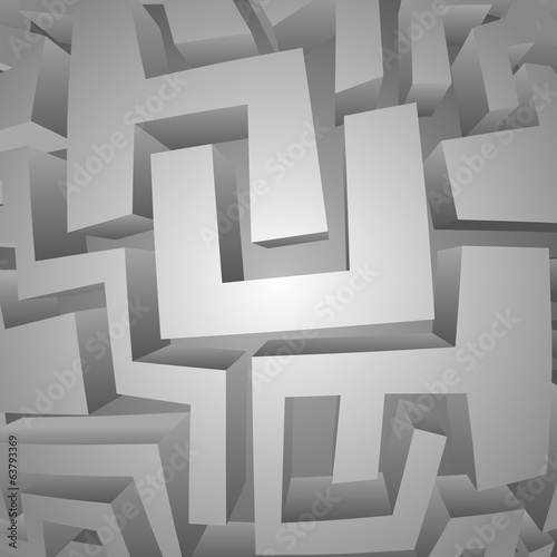 Imaginative surface maze