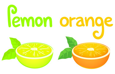 Lemon and orange card