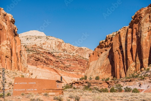 Capitol Reef Trails Sign