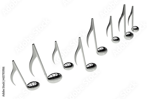 Music Notes Isolated