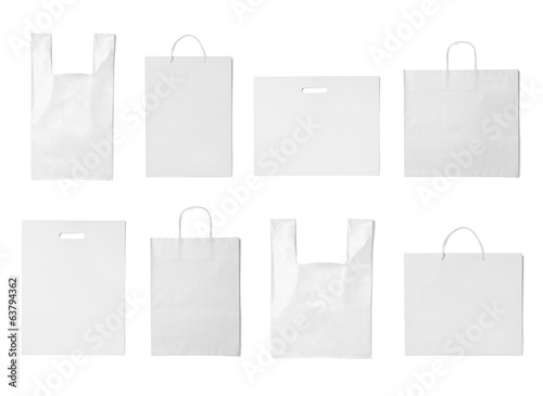 white bag template plastic paper shopping - 63794362