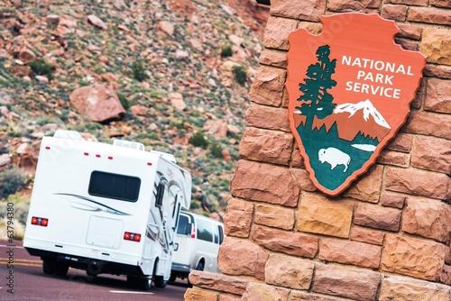 Fotobehang Kamperen American National Parks