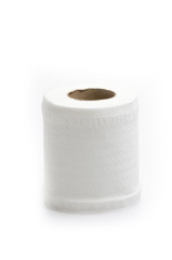 Toilet paper roll isolated white background