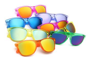 colored sunglasses, summer concept