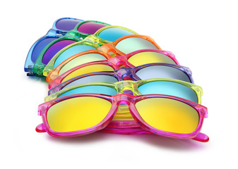 colored sunglasses, summer concept