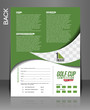 Golf Tournament Back Flyer Template