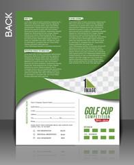 Golf Tournament Back Flyer Template