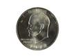 Single Eisnehower Silver Dollar on White