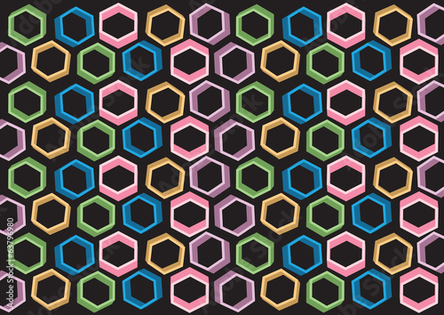 Background design consist of multicolored shapes
