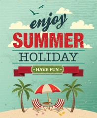 Summer Holiday poster vector background