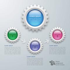 Infographics Gear Button #Vector