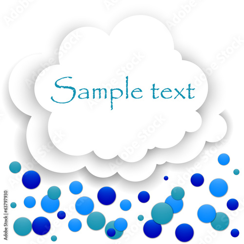 Abstract cloud of white paper confetti