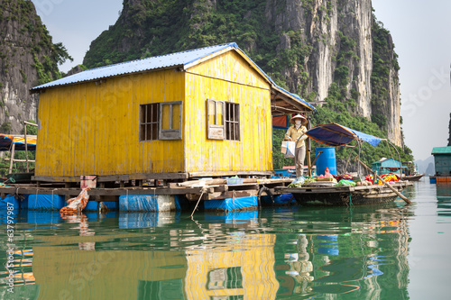 local resident Halong Bay with the goods for sale