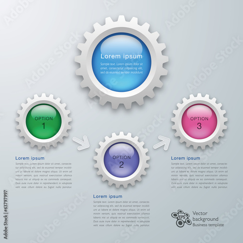 Infographics Gear Button #Vector