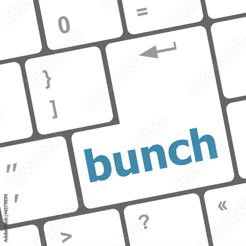 bunch word on computer keyboard key