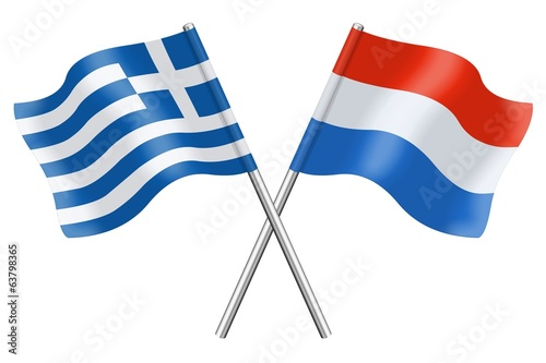 Flags : Greece and Luxembourg