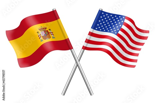 Flags : Spain and the United States
