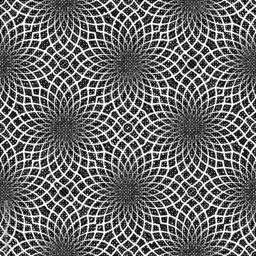 Design seamless monochrome decorative flower pattern