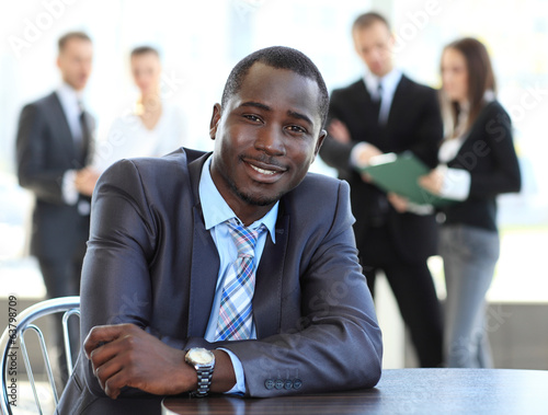 Portrait of smiling African American business man