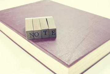 Vintage note book