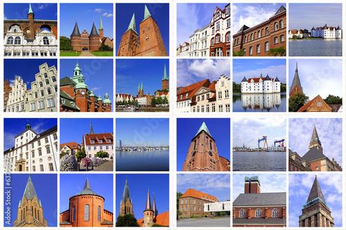 Schleswig-Holstein-Großstädte:LÜBECK+FLENSBURG+SCHLESWIG+KIEL