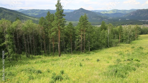 Beautiful landscape of the Altai Mountains