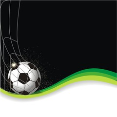 Hintergrund mit Fussball