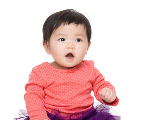 Asian baby girl screaming