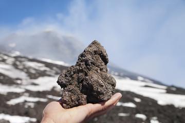 Lava rock.