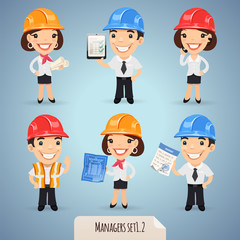 Managers Cartoon Characters Set1.2