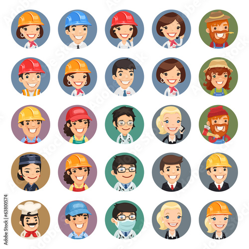 Professions Vector Characters Icons Set1.1