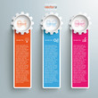 Three Colored Oblong Banners Gears
