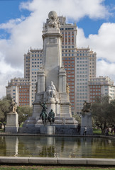monument to Cervantes in Madrid
