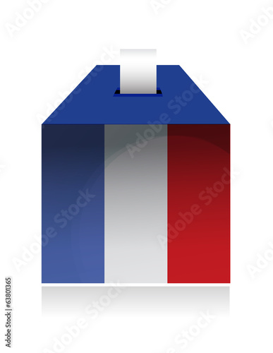 vote in france. illustration design